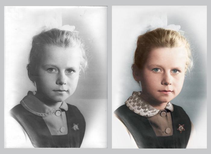 из чёрно белого фото сделать цветное в фотошопе